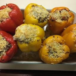 When life gives you bell peppers, make stuffed peppers